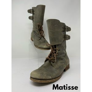 Matisse Leather Buckle Boots